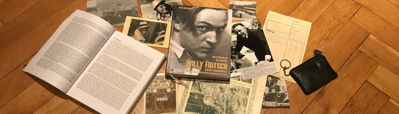 Der Schauspieler Willy Fritsch: der Autobegeisterte, verschiedene Dokumente