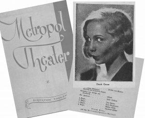 Collage: Programmheft des Metropol-Theaters in Berlin 1933