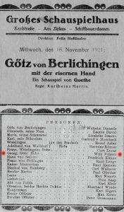 Programmheft des Großen Schauspielhauses 1921