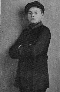 Willy Fritsch als Schüler in Schuluniform