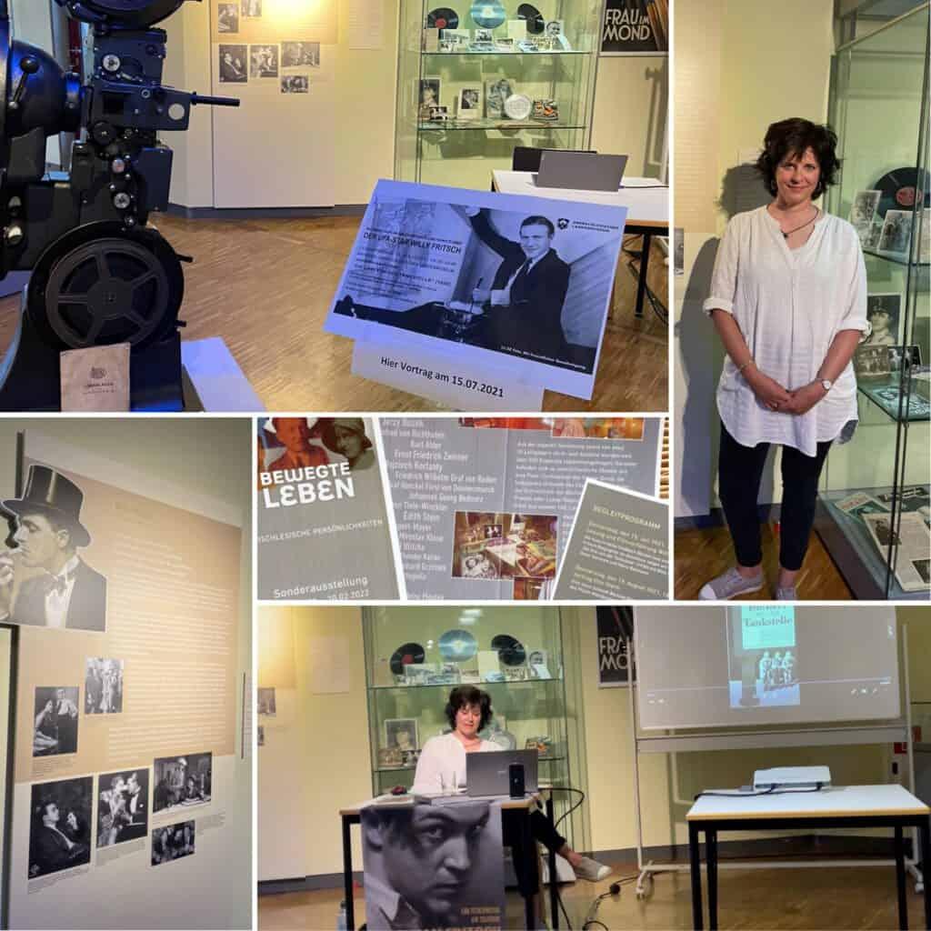 Die Autorin Heike Goldbach liest Willy Fritsch im Landesmuseum