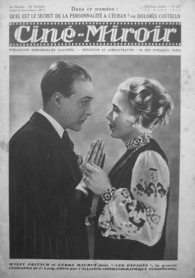 """Cover des französischen Magazins """"Cine Miroir"""", 1930"""