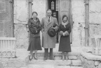 Privater Aufenthalt in Athen, mit unbekannten Fans, 1933