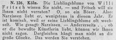 Zeitungsausschnitt: Die Lieblingsblume.